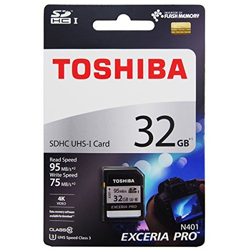 Toshiba 32GB EXCERIA PRO N401 SDHC UHS-I U3 Card Class 10 SD Card Memory Card 95MB/s for 4K Video recording