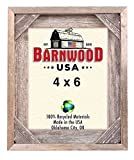 BarnwoodUSA | Rustic Signature Corner Block Picture Frame | 100% Up-Cycled Reclaimed Wood (4×6)