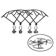 TELESIN 4pcs Mavic Pro Propeller Guard Set,Quick Release Not Affect Obstacle Avoidance Prop Protectors Guard Bumpers for DJI Mavic Pro Drone Accessories-Grey