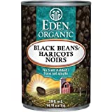 Eden Foods Organic Black Beans, 398ml (Pack of 12)
