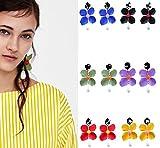 Best lady New Arrival Cute Multi Color Flower Stud Earrings For Women Charm (6pcs)