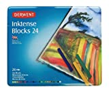 Derwent Drawing Supplies, Inktense, Ink Blocks, 4mm Core, Metal Tin, 24 Count (2300443)