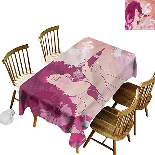 one1love Tablecloth Music Afro Woman Singing Jazz Songs Fashions Rectangular 60
