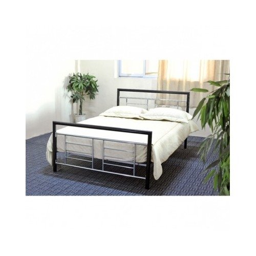 Modern Metal Black Silver Bed Frame Includes Scented Candle Tart (twin) by Hodedah