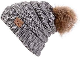Liraly Wool Hats for Women Winter Womens Slouchy Beanie Hat Knit Warm Snow Ski Skull Cap