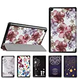 Coohole Fashion Folding Stand Painted Leather Protective Case Cover For Amazon Kindle Fire HD 8 2016 (A)