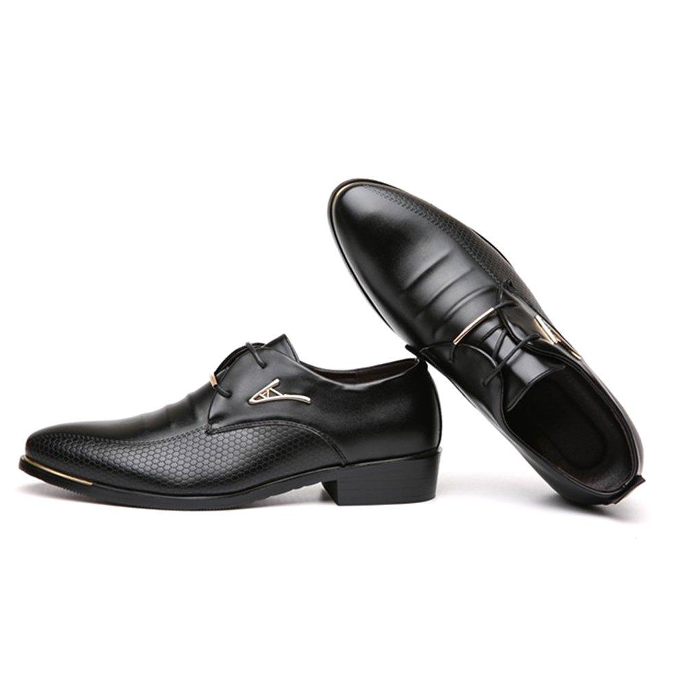 Blivener Men's Pointed Toe Classic Oxford Formal Business Dress Shoes Black US 8.5 by Blivener (Image #8)