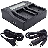 Kapaxen Dual Channel Battery Charger for Canon BP-820 BP-828 Camcorder Batteries