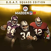 Amazon com: Madden NFL 18: G O A T  Edition - Xbox One