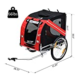 Aosom Bike Trailer Cargo Cart for Dogs and Pets