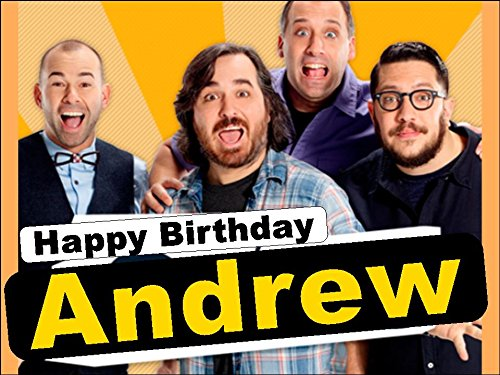 A4 Impractical Jokers Personalised Edible Icing Birthday Cake Topper
