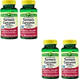 Spring Valley Stndr Turmeric Curcumin Complex Dietary Supplement Capsules, 500 mg, 90 Count Bottle (4 Pack)