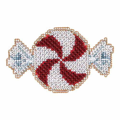 (Mill Hill Peppermint Candy Beaded Counted Cross Stitch Christmas Ornament Kit 2017 Winter Holiday MH181732)