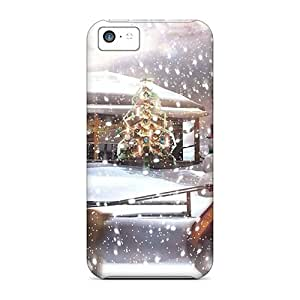 Hot Christmaswallpaper First Grade Tpu Phone Case For Iphone 5c Case Cover