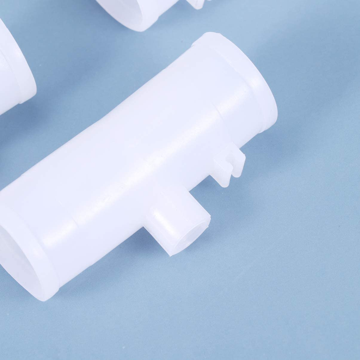 6.5 cm Yardwe 20 Pack PVC Tee Fittings Chicken Waterer for Automatic Poultry Water Drinker and Feeder Cups and Threaded Poultry Nipples Chicken Waterer