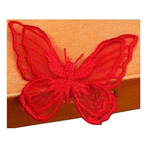 Black Temptation Set Of 2 élégante broderie dentelle autocollant Tissu Stickers décoratifs Rouge