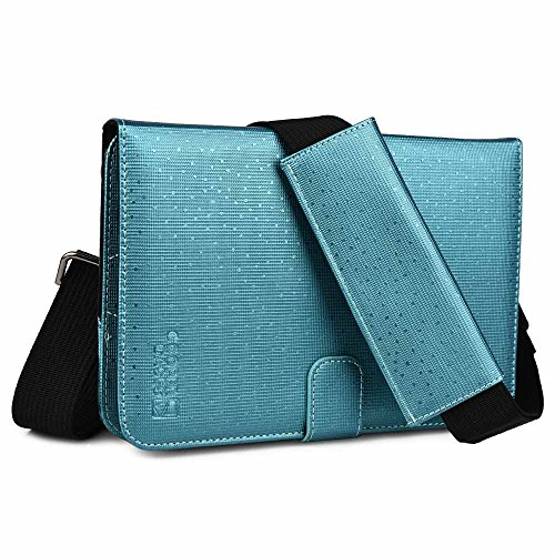 Cooper Magic Carry II case Shoulder Strap 7-8'' inch Tablets | Protective Tablet Folio Cover w/Handle & Stand, Adjustable Strap | Carrying Case Business School Restaurant Travel (Blue) by Cooper Cases