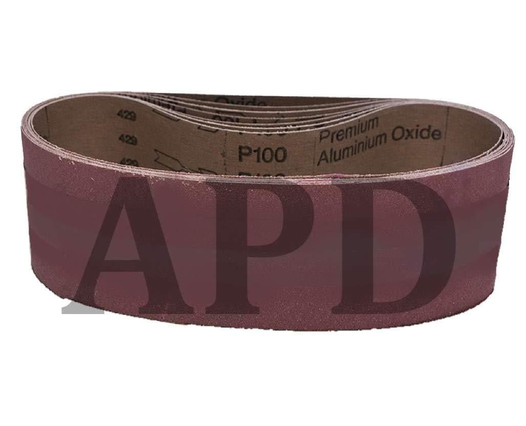 20-Pack VSM Aluminum Oxide Performance Cloth Belt KK752X 4 Inch x 12 Inch 400 Grit X-Weight Backing by VSM