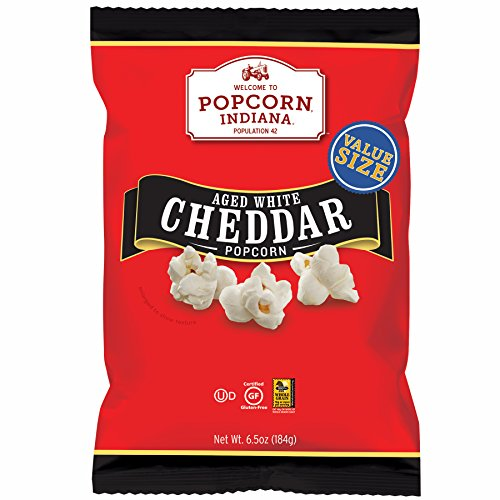 Popcorn Indiana Popcorn, Aged White Cheddar, 6.5 Ounce  (Pack of 6)