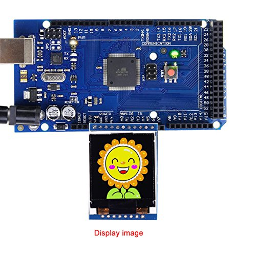MakerFocus TFT LCD Screen 1.44 inches TFT LCD Module, 128x128 SPI, Picture Graphic Color Screen, 51 STM32 Arduino Routines to Replace 5110 OLED 5V for Arduino by MakerFocus (Image #6)