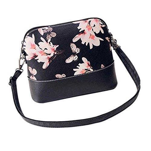 Women Printing Shoulder Bag PU Leather Purse Satchel Messenger Bag - 2