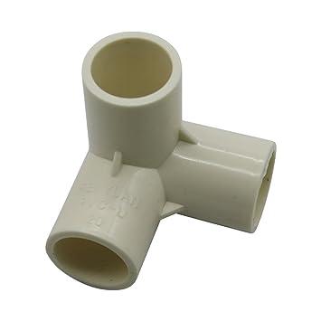 Gardeningwill 10/pcs 3/Way PVC pour Construire Heavy Duty Serre Cadre Meubles Connecteurs 25mm Blanc
