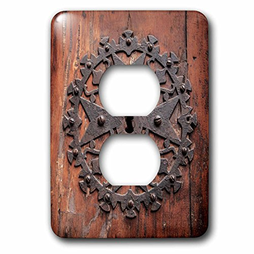 3dRose Danita Delimont - Doors - Spain, Balearic Islands, Mallorca, Arta. Decorative Key hole - Light Switch Covers - 2 plug outlet cover (lsp_277914_6) by 3dRose