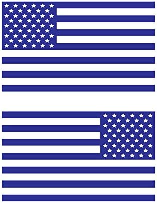 amazon com usa subdued single color american flag 50 stars 2 vinyl die cut decals includes standard and reversed designs small silver automotive amazon com