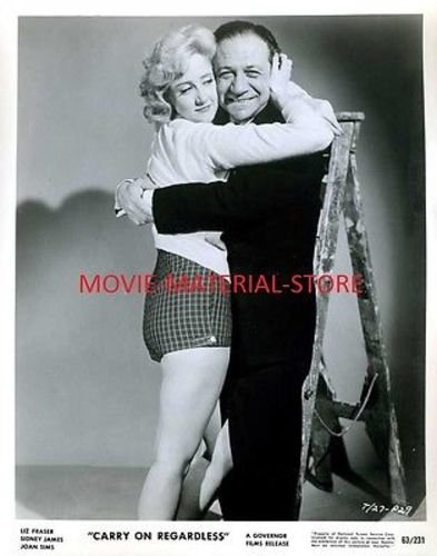 "Liz Fraser Sidney James Gain On Regardless Original 8x10"" Photo #K4986"