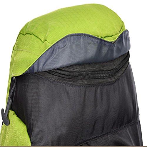 50 + 5L exterior de nylon resistente al agua bolsa de nylon de escalada , green Green
