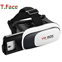 T.Face 3D VR Glasses Open the window Headset with Head-mounted Headband and NFC Tag for 3.5-6.0 Inch Google, iPhone, Samsung Note, LG Nexus, HTC, Moto Smartphones