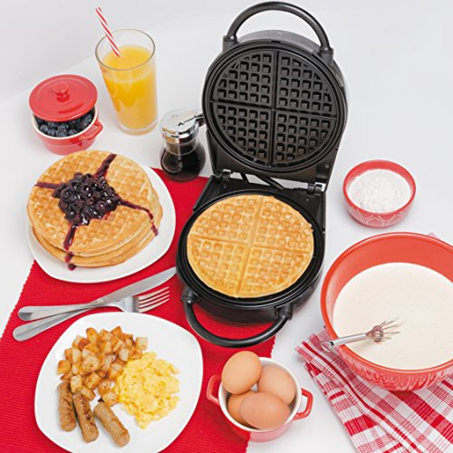 Waffle Maker- Non-stick American Waffler Iron with Adjustable Browning Control- Beeps When Ready by CucinaPro (Image #1)