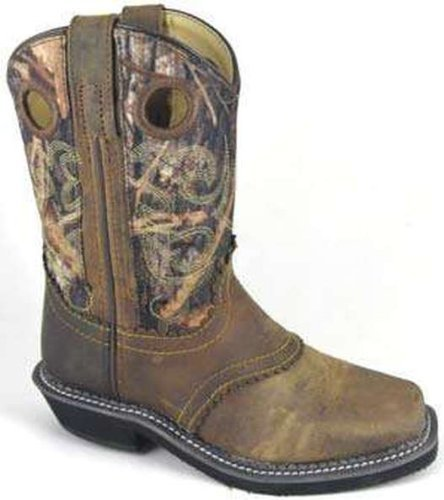 Smoky Mountain Ladies Pawnee Square Toe Boot Brown Oil Distress/Camo B00CBL3TFY 11|Brown Oil Distress/Camo
