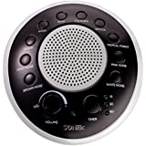 SONEic - Sleep, Relax and Focus Sound Machine. 10 Soothing White Noise and Natural Sound Tracks, with Timer Option. Crystal Clear Quality Sound Speaker and 3.5mm Headphone Jack, with Volume Control. USB or Battery Powered. Portable and Stylish - Black