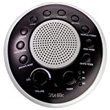 SONEic - Sleep, Relax and Focus Sound Machine. 10 Soothing White Noise and Natural Sound Tracks, with Timer Option. Crystal Clear Quality Sound Speaker & Headphone Jack. USB or Battery Powered - Black