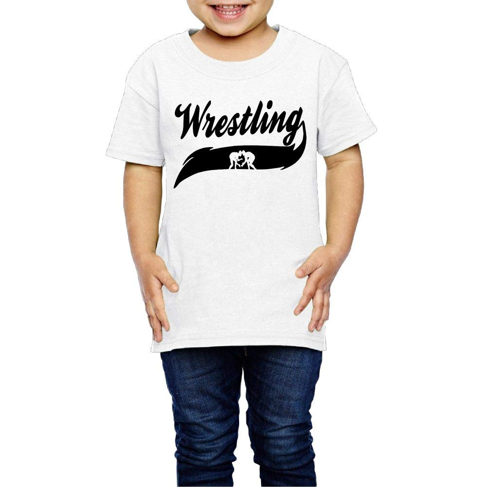 Kcloer24 Wrestling Unisex Toddler Personality T-Shirt Summer Clothes (2-6 Years Old)