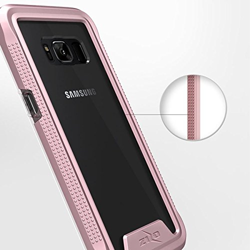 Samsung Galaxy S8 Plus Case, Zizo [ION Series] w/ FREE [Samsung Galaxy S8 Plus Screen Protector] Crystal Clear [Military Grade] for S8+ Rose Gold/Clear by Zizo (Image #2)