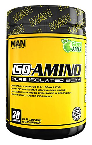MAN Sports Iso-Amino BCAA Powder, Green Apple, 210 Gram