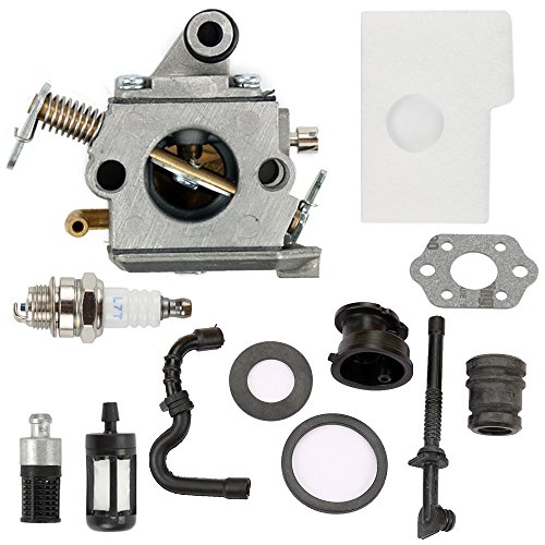 Harbot C1Q-S57A Carburetor for STIHL 017 018 MS 170 180 180C MS170 MS180 MS170C MS180C Chainsaw with Air Filter Tune Up Kit (Stihl Chainsaw 180c)