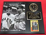 Willie Mays Roy Campanella Collectors Clock Plaque w/8x10 Photo and Card
