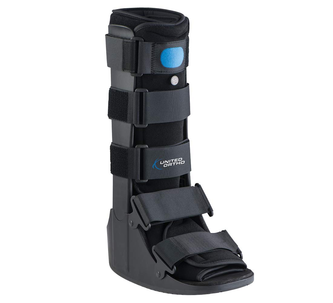 United Ortho Air Cam Walker Fracture Boot, Extra Large, Black