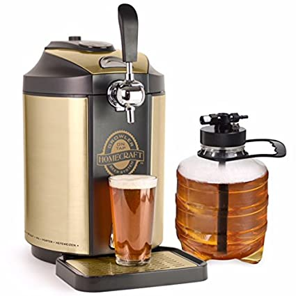 amazon com nostalgia cbd5 homecraft kegerator on tap beer growler