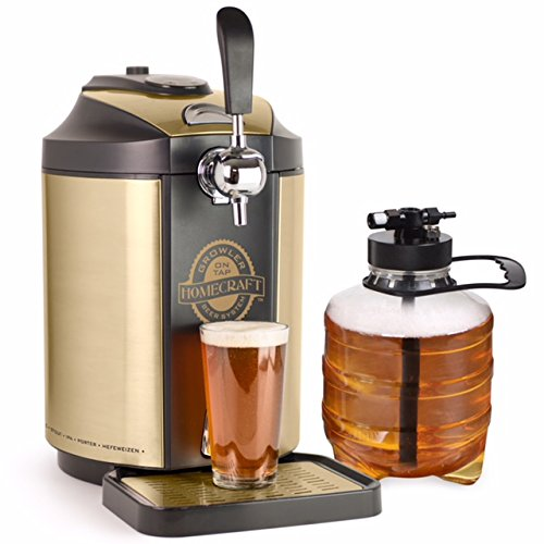 Nostalgia CBD5 Homecraft Kegerator On Tap Beer Growler Cooling System (Beer Dispenser Home)