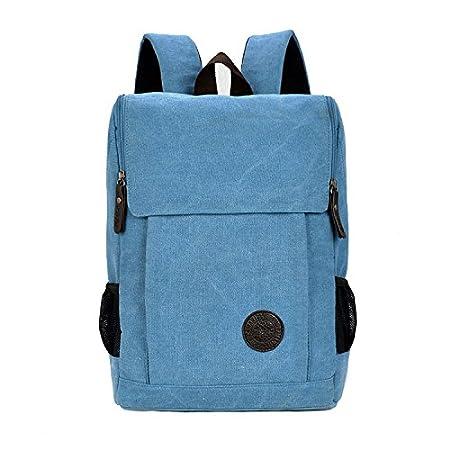 Amazon.com: Womens mens High Capacity Vintage Canvas Backpack With Top Handle Rucksack school bag Satchel Hiking bag Student Schoolbag Special Mezzanine ...