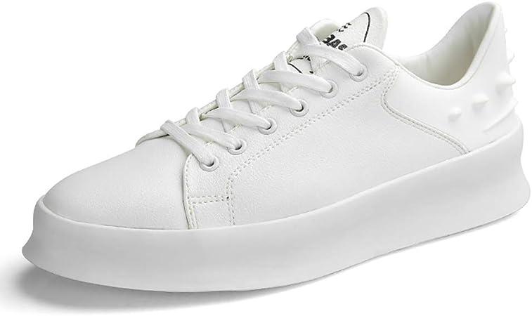 Hy Zapatillas Casuales para Hombre, Muelles/Calla Corbata Flujo Altura Cómoda Zapatillas de Running Wearable Zapatillas de Paseo Ciclismo Zapatos: Amazon.es: Jardín