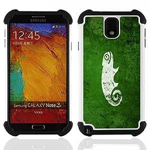 King Case - cool funny cute green nature chameleon - Cubierta de la caja protectora completa h???¡¯???€????€?????brido Body Armor Protecci?