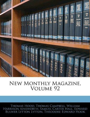 Download New Monthly Magazine, Volume 92 ebook