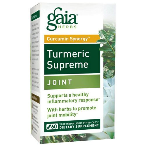 Turmeric Supreme, Joint 60 Caps by Gaia Herbs (Pack of 3)