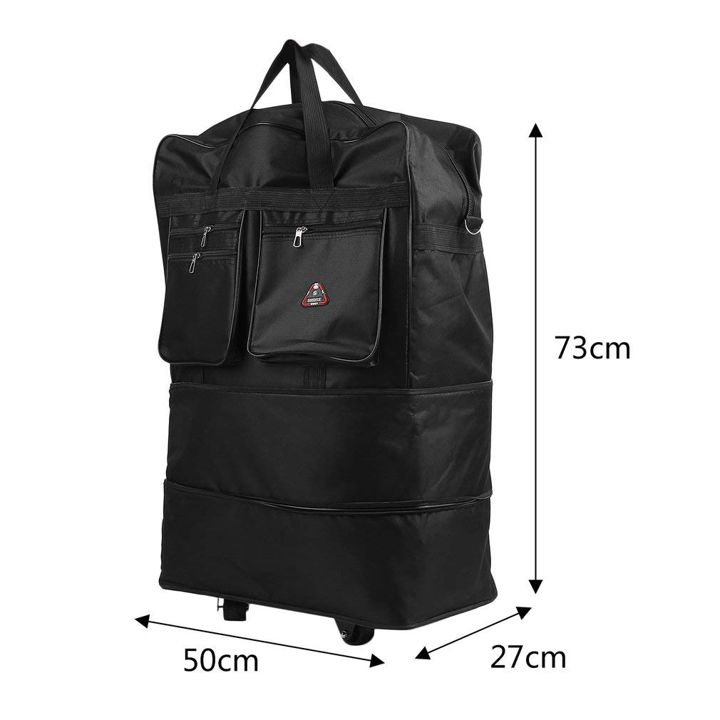 Homgrace Rolling Wheeled Duffle Bag Large Capacity Spinner Suitcase Luggage Wheel Bag for Outdoor Travel by Homgrace (Image #9)