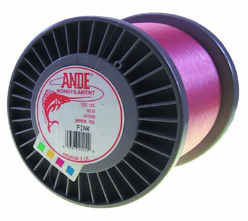 (Ande Premium Monofilament Line with 80-Pound Test, Pink, 2-Pound Spool (1200-Yard))